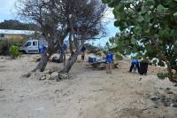 The Collectivité has cleaned up the beaches after the Easter weekend