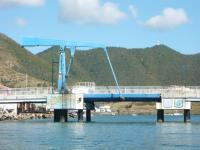 Rénovation du pont de Sandy Ground : des factions de la gendarmerie et des pompiers à Baie Nettlé