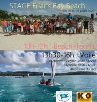 Stage beach tennis/voile à Friar's bay